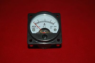 AC 0-5A Analog Ammeter Panel Current Meter SO45  directly Connect