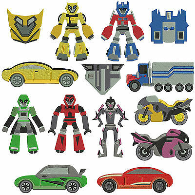 * TRANSFORMERS * Machine Embroidery Patterns * 14 designs, 2 sizes