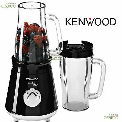 Kenwood Smoothie 2GO 300w with 2-Travel Mugs Smoothie Drinks Maker Black SB056
