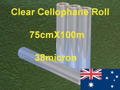 Clear Cellophane Roll 75cmX100m 1Roll/Pack 38micron post