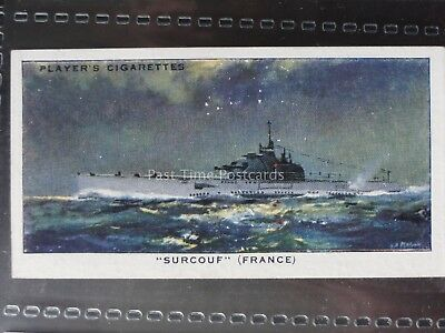Single: No.22 SURCOUF, FRENCH SUB - MODERN NAVAL CRAFT - John Player 1939