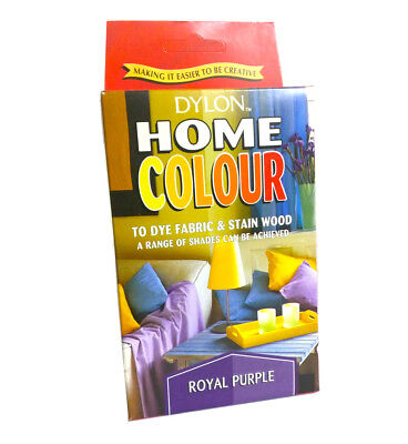 Dylon Hand Dye Fabric Stain Wood Creative Home Colour Craft Royal Purple Shade