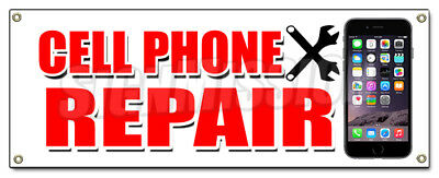 CELL PHONE REPAIR BANNER SIGN apple lg htc samsung all brands iphone