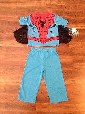 NEW Toddler Boy 2 Piece Spiderman Pajama PJs Set Size 2T or 3T