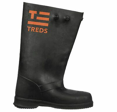 """TREDS Super Tough 17"""" Pull-On Stretch Rubber Overboots - Medium - # 17851"""