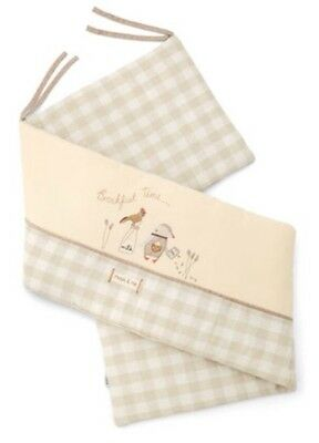 *NEW* Mamas and Papas Neutral Cot Bumper - Murphy & Me Unisex