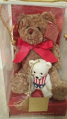 Lenox American Bears For the Holidays Teddy Bear 100th Anniversary with Ornament
