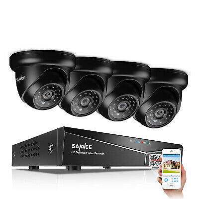 SANNCE 8CH Security System 1080N 5in1 DVR 1500TVL Home Surveillance Camera 1TB