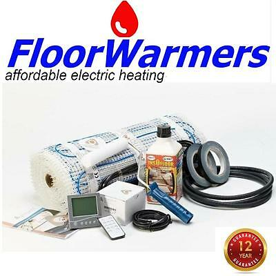 Electric Underfloor Heating Mat Kit 200w/m2 choose the size you need. + Stat.