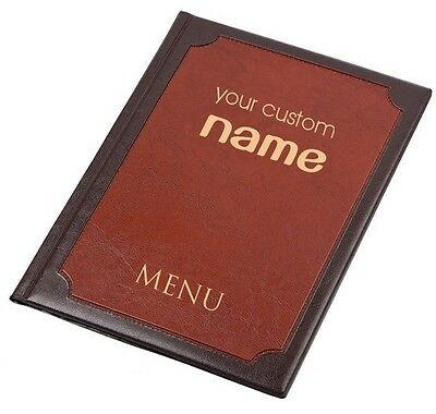 25 X MENU COVER A4 holder 6 pockets presenter PERSONALISED folder pub RESTAURANT