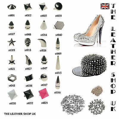 New Real Quality Nickel Loose Metal Studs And Spikes For Leather Craft