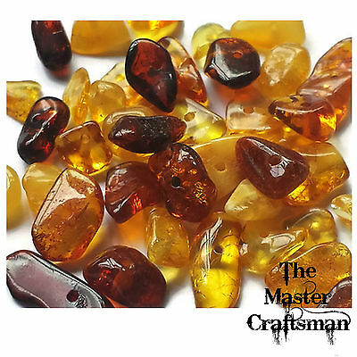 ☆10-50pc GENUINE BALTIC AMBER MIXED POLISHED DRILLED LOOSE CHIPS BEADS GEMSTONES