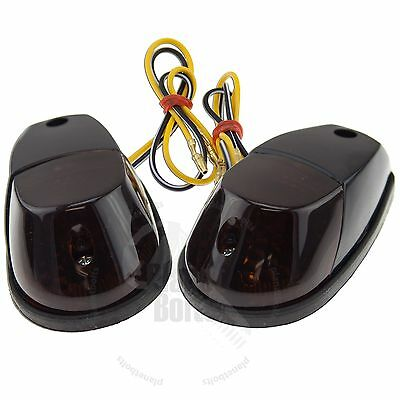 Black Motorcycle Surface Mount Turn Signal Blinker Marker Yamaha YZF R1 R6 FZ