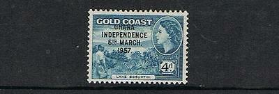STAMPS  from GOLD COAST opt. GHANA INDEPENDANCE 1957 4d (MNH)  lot 112