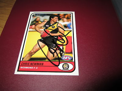Richmond Tigers - Chris Newman Signed Afl Select Card