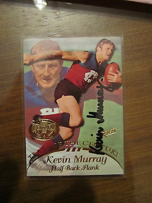 Fitzroy Lions - Kevin Murray Signed Afl Select 1996 Team Of The Century Card