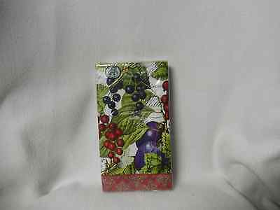 Michel''currant'' 15 Paper Hostess Napkins Triple Ply -New-Sealed