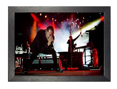 Chester Bennington 23 Photo Linkin Park Rock Band On Stage Picture Music Poster