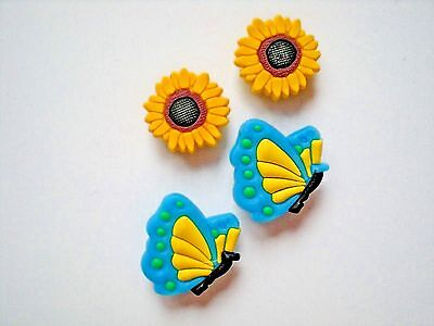 Clog Shoe Plug Button Pin Charm For Belt WristBand Sandals Accessories Butterfly