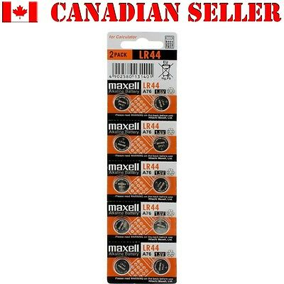 10 NEW Batteries Authentic LR44 MAXELL A76 L1154 AG13 357 SR44 303 BATTERY