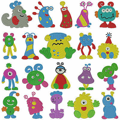 LITTLE MONSTERS * Machine Embroidery Patterns * 20 designs 2 sizes