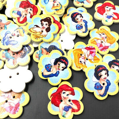 New 10/50/100/500pcs Heart Girl Wood Buttons 25*22mm Sewing Craft Mix Lots WB178