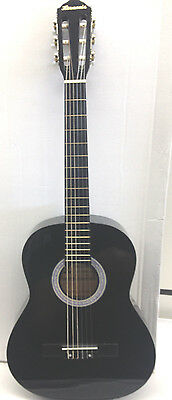 "NEW Harmonia  black Guitar 36"" nylon Strings Free 2 Fender Picks"