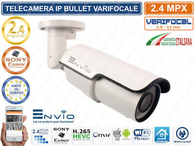 TELECAMERA IP 2 MPX  VARIFOCAL 2,8-12mm  1080P FULLHD ONVIF CLOUD H.265 XMEYE