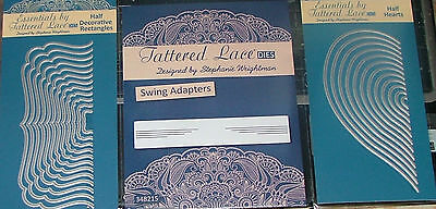 Tattered Lace Essentials Halfs - Hearts, Decorative Rectangles  & Swing Adaptor