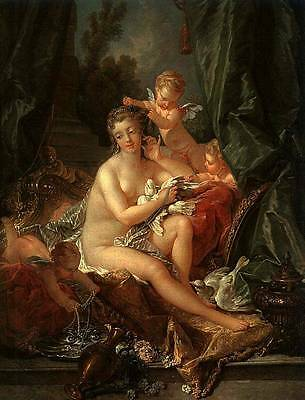 Ölbilder Ölgemälde Gemälde Boucher: The Toilet of Venus 50x65cm