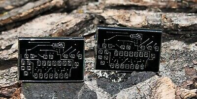 Circuit Board Stainless Steel Cuff Links and Gift Box - New Cufflinks
