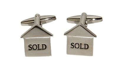 """""""Sold"""" Realtor Stainless Steel Cuff Links and Gift Box - New Cufflinks"""