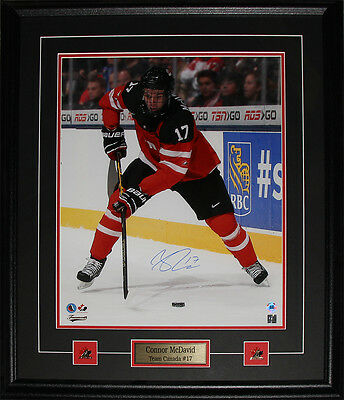 Connor McDavid Team Canada Juniors signed 16x20 frame