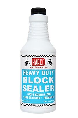 Hapco Block Sealer - Stops Leaks In Radiator, Head Gasket, Cracked Block