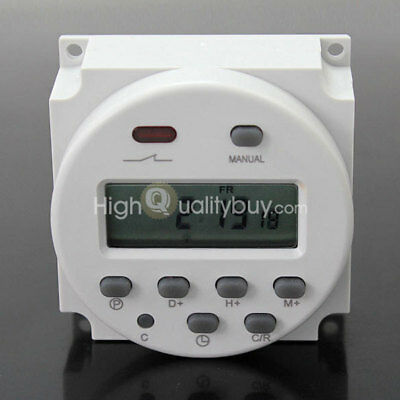 Programmable Time Switch DC 12V Digital LCD Power Contrivable Timer Clock