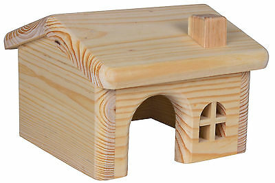 Pine Lodge Wooden House for Hamsters Mice Gerbils & Other Small Rodents