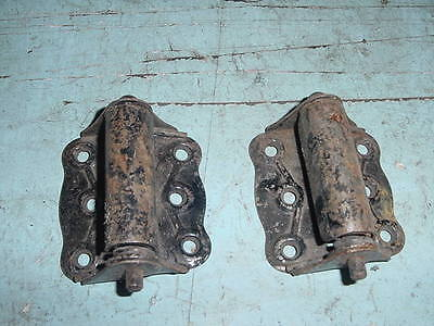 Antique Primitive Iron Screen Door Hinges  Lot Of 2