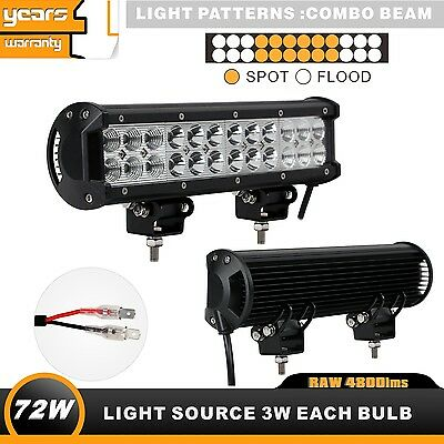 12inch 72W CREE LED Combo 4WD Work Light Bar Offroad UTE SUV 6000K Waterproof