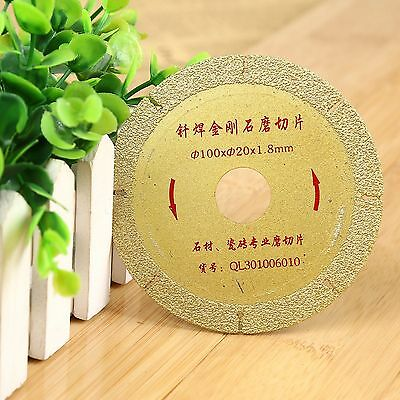 "1PC 4"" 100mm Diamond Coated Cutting Disc Sawing Blade Wheel Grit 46 Power Tool"