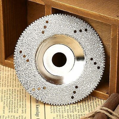 "1PC 4"" 100mm Diamond Coated Cutting Disc Saw Blade Wheel Craft Tool Silver Color"