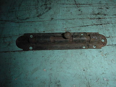 "Antique Primitive Iron Barrel Bolt Latch 6 1/2"" Inch"