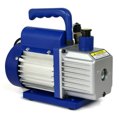 3.5CFM Single Stage Rotary Vane Vacuum Pump Refrigerant HVAC AC Air R410 R134