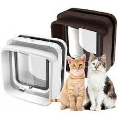 Sureflap Microchip Dual Scan Cat Flap - White -Multi-Pet, Premium Service