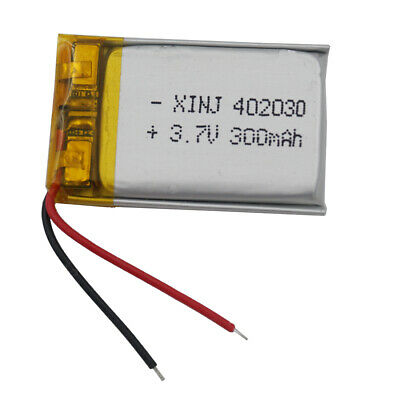3.7V 300mAh Polymer Li Lithium Cells Lipo For Mp3 bluetooth sat Nav Watch 402030
