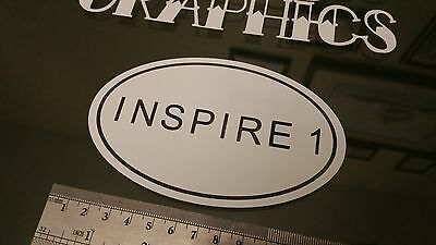 Inspire 1 Name Oval DRONE Sticker Decal, DJI Phantom RC FPV Case