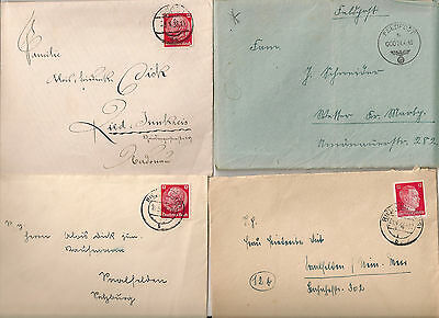 WW2  period stamp GERMAN DOCUMENT  4 envelops Feldpost card