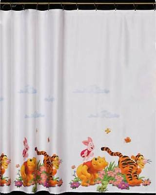 Kids Printed Voile Net Curtain-Winnie The Pooh-Ready Made