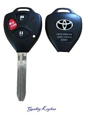 New Replacement Key Keyless Remote Shell Case Fob Uncut Blade For 3 Button