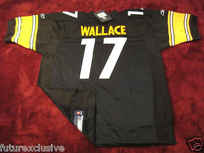 #17 MIKE WALLACE PITTSBURGH STEELERS (Eli Rogers) BLACK SEWN JERSEY -CHOOSE SIZE