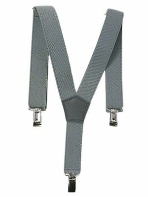 NEW Baby / Childrens 0-2 Yrs Elasticated Clip on Braces / Suspenders - Grey